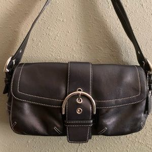 Leather Coach shoulder purse